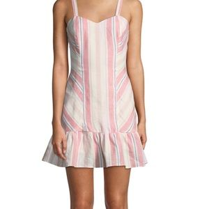 Yuna Sweetheart Striped Linen Mini Dress. NWT sz 0